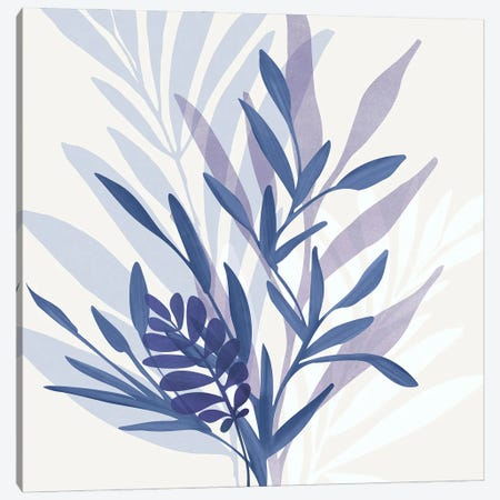 Bouquet Blues Canvas Print #MTP225} by Modern Tropical Art Print