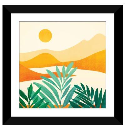 Golden Alpine Sunset Framed Art Print