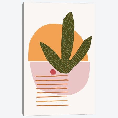 Desert Sunscape Green Canvas Print #MTP22} by Modern Tropical Canvas Artwork