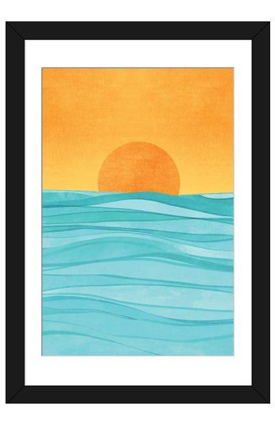 Coastal Sunset Framed Art Print
