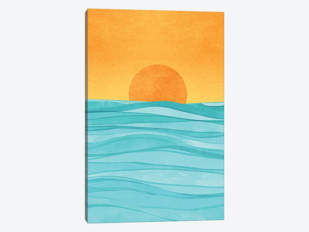 Coastal Sunset by Modern Tropical 1-piece Canvas Wall Art