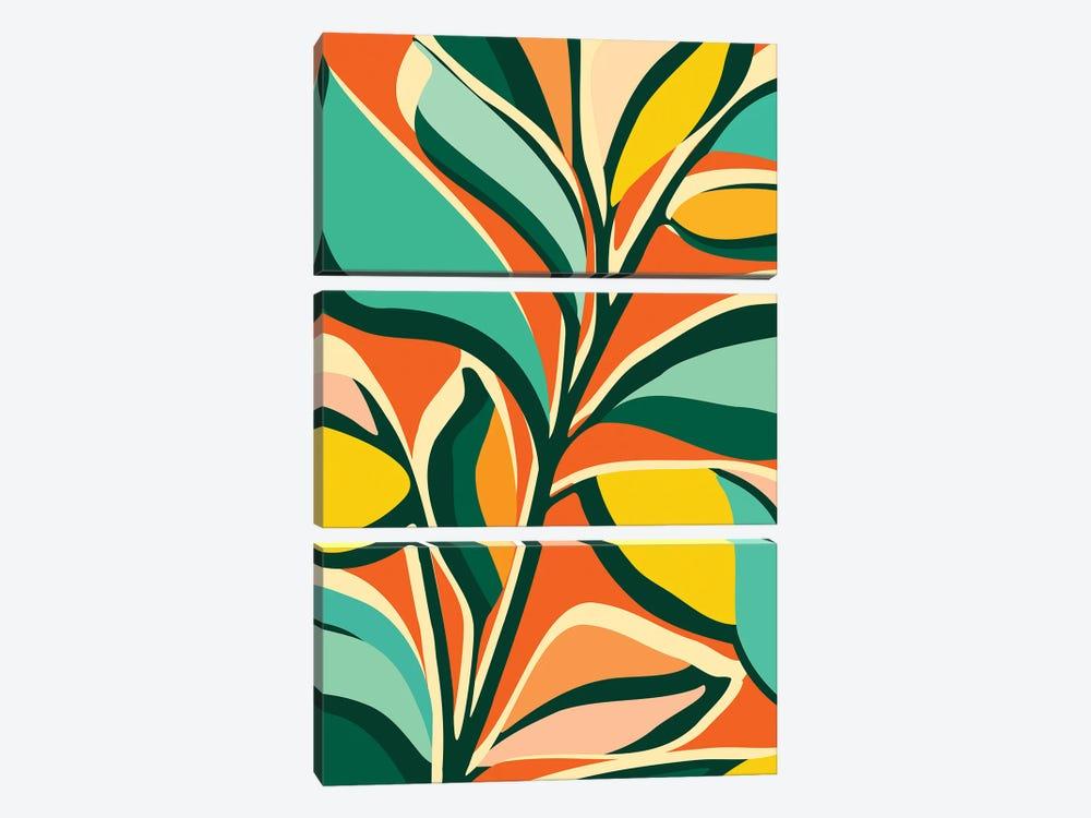Garden Festival by Modern Tropical 3-piece Canvas Art Print