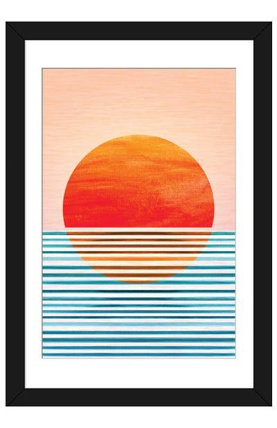 Geometric Minimalist Sunset Framed Art Print
