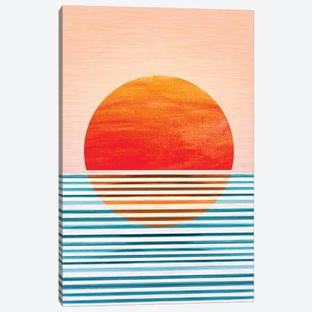 Geometric Minimalist Sunset Canvas Print #MTP234} by Modern Tropical Canvas Art
