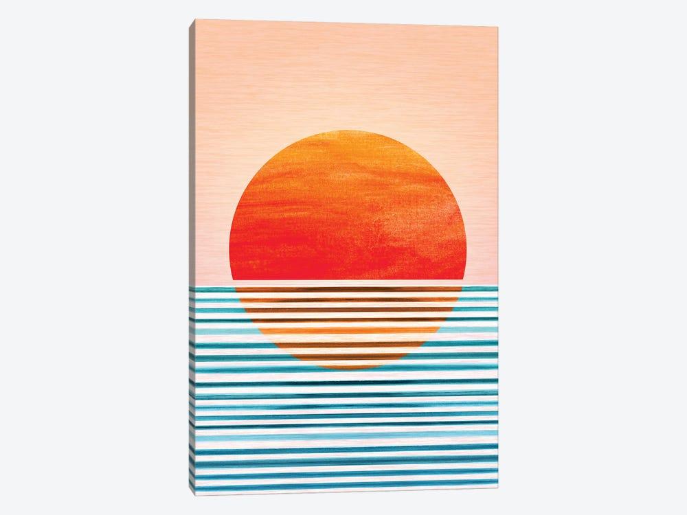 Geometric Minimalist Sunset by Modern Tropical 1-piece Canvas Wall Art