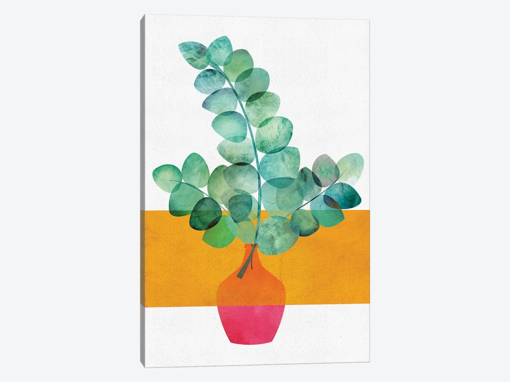 Eucalyptus And Sunshine by Modern Tropical 1-piece Canvas Print
