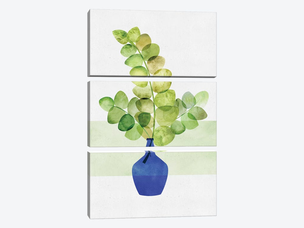 Eucalyptus Study by Modern Tropical 3-piece Canvas Wall Art