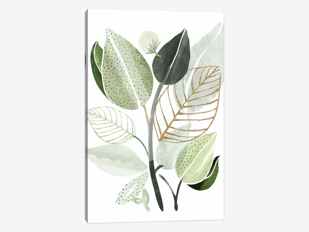 Forest Bouquet by Modern Tropical 1-piece Canvas Art