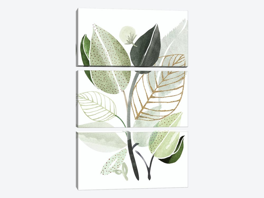 Forest Bouquet by Modern Tropical 3-piece Canvas Artwork