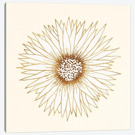 Gold Sunflower Canvas Print #MTP27} by Modern Tropical Art Print