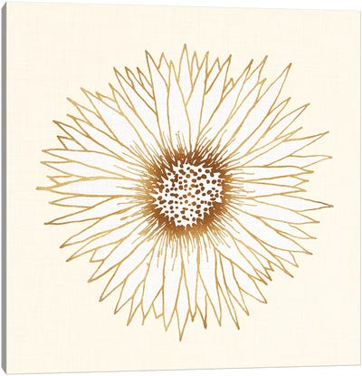 Gold Sunflower Canvas Art Print
