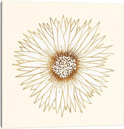 Gold Sunflower Canvas Art Print