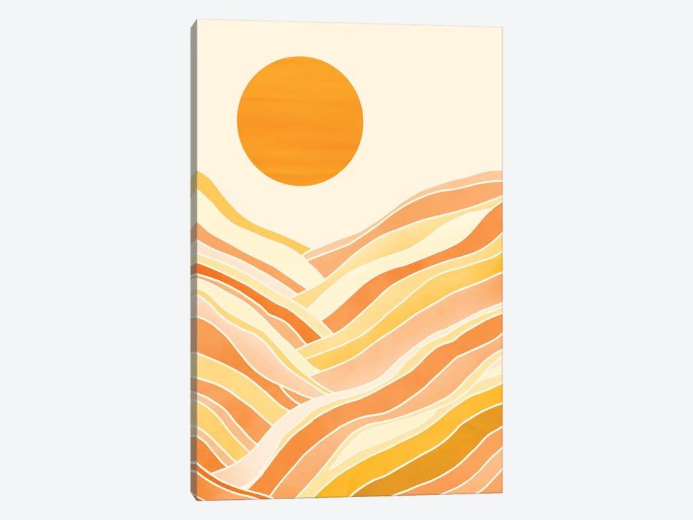Golden Mountain Sunset by Modern Tropical 1-piece Canvas Art