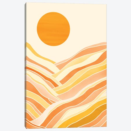 Golden Mountain Sunset Canvas Print #MTP28} by Modern Tropical Canvas Art
