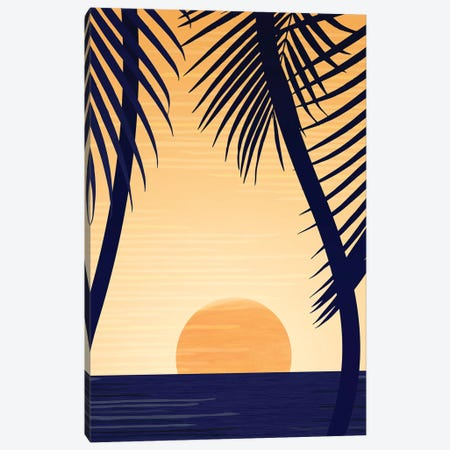 Golden Sunset Canvas Print #MTP29} by Modern Tropical Canvas Art