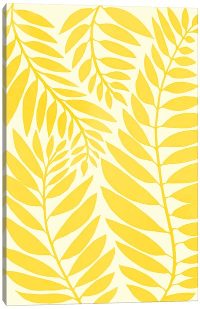 Golden Yellow Leaves Canvas Art Print
