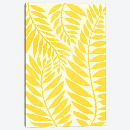 Golden Yellow Leaves Canvas Print #MTP30} by Modern Tropical Canvas Print