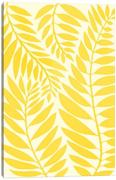 Golden Yellow Leaves Canvas Art Print