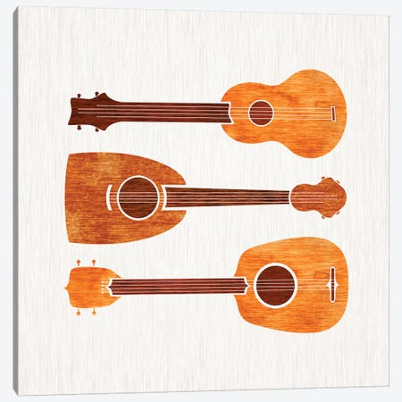 Hawaiian Ukuleles Canvas Print #MTP31} by Modern Tropical Art Print