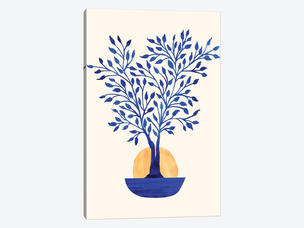 Indigo Ficus Sunrise by Modern Tropical 1-piece Canvas Print