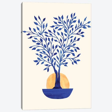 Indigo Ficus Sunrise Canvas Print #MTP32} by Modern Tropical Art Print