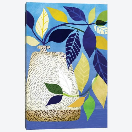 Ivy And Blue Sky I Canvas Print #MTP34} by Modern Tropical Canvas Wall Art