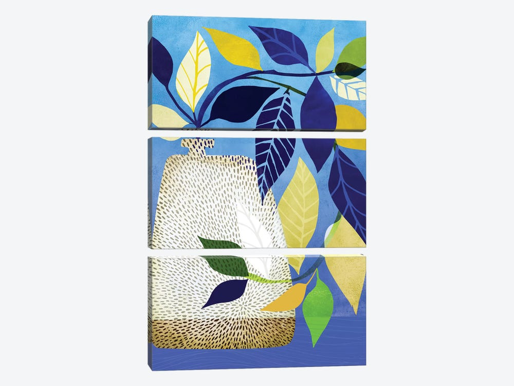 Ivy And Blue Sky I by Modern Tropical 3-piece Canvas Print