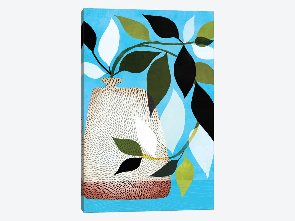 Ivy And Blue Sky II by Modern Tropical 1-piece Canvas Wall Art