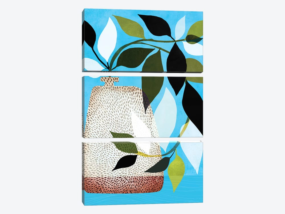 Ivy And Blue Sky II by Modern Tropical 3-piece Canvas Wall Art