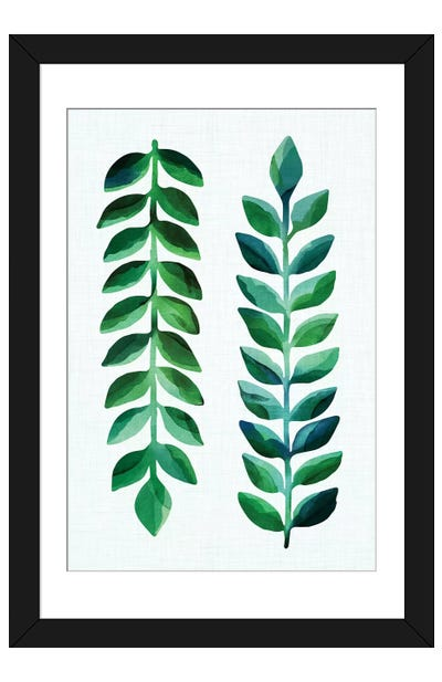 Leafy Goodness Dark  Framed Art Print