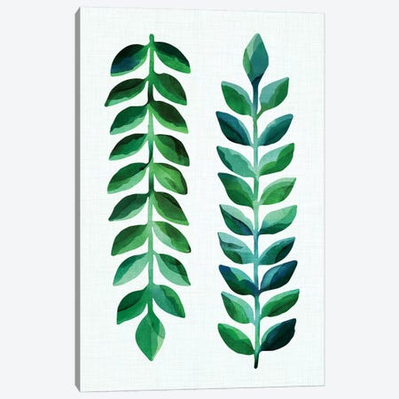 Leafy Goodness Dark  Canvas Print #MTP38} by Modern Tropical Canvas Print
