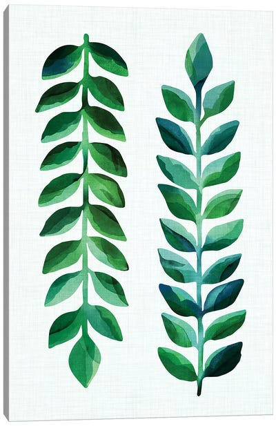 Leafy Goodness Dark  Canvas Art Print