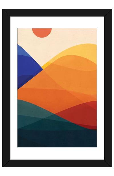 Meditative Mountains Framed Art Print