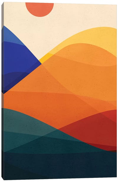 Meditative Mountains Canvas Art Print