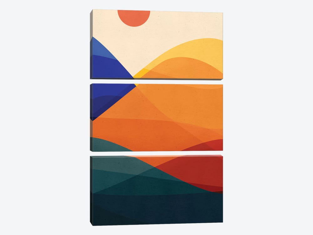 Meditative Mountains by Modern Tropical 3-piece Canvas Artwork