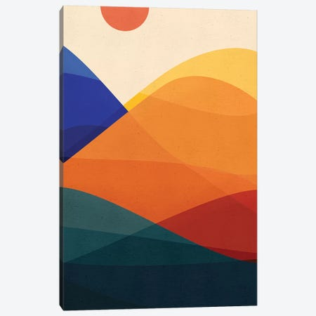 Meditative Mountains Canvas Print #MTP40} by Modern Tropical Canvas Artwork