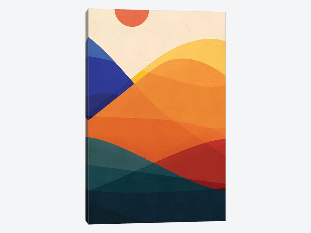Meditative Mountains by Modern Tropical 1-piece Canvas Art