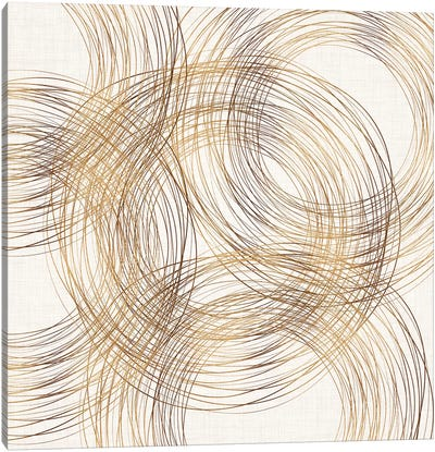 Metallic Copper Rings Canvas Art Print