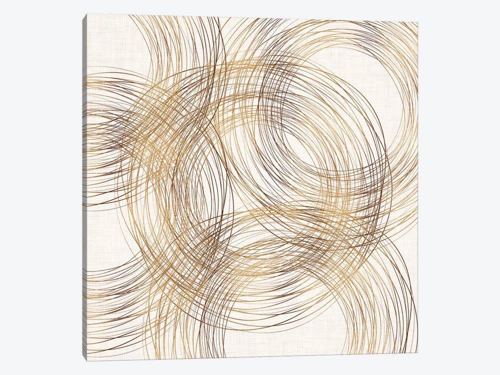 Metallic Copper Rings by Modern Tropical 1-piece Art Print