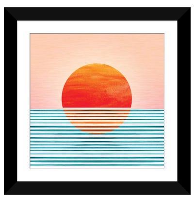 Minimalist Sunset Framed Art Print