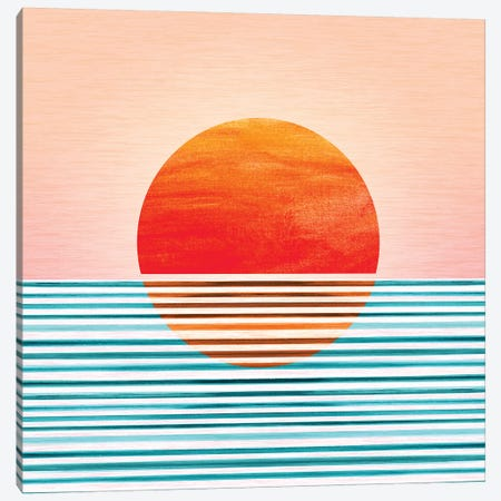 Minimalist Sunset Canvas Print #MTP44} by Modern Tropical Canvas Art Print