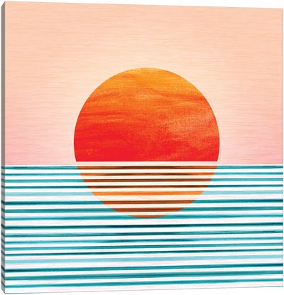 Minimalist Sunset Canvas Art Print