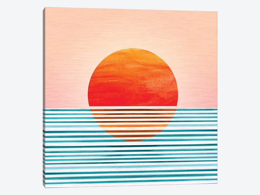 Minimalist Sunset by Modern Tropical 1-piece Canvas Artwork