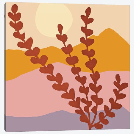 Mountain View Canvas Print #MTP48} by Modern Tropical Canvas Art