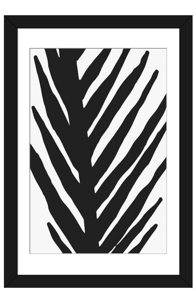 Abstract Minimal Palm Framed Art Print