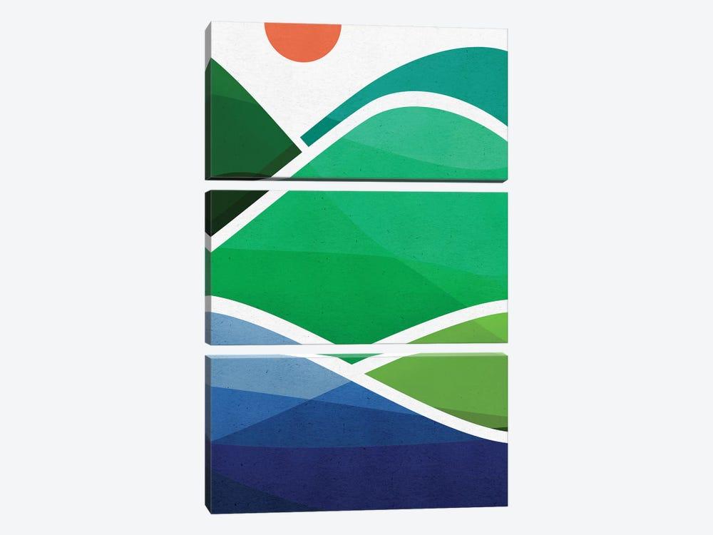 Oahu Shoreline by Modern Tropical 3-piece Art Print