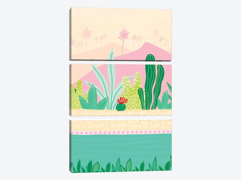 Oasis by Modern Tropical 3-piece Canvas Wall Art