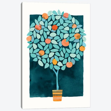 Orange Tree At Midnight Canvas Print #MTP52} by Modern Tropical Canvas Art Print