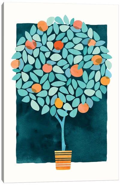 Orange Tree At Midnight Canvas Art Print