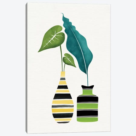 Pop Greenery Canvas Print #MTP54} by Modern Tropical Canvas Art
